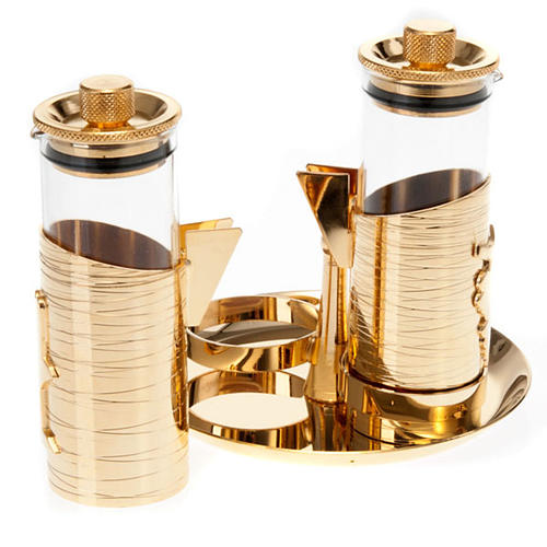 Gold plated watertight cruet set 2