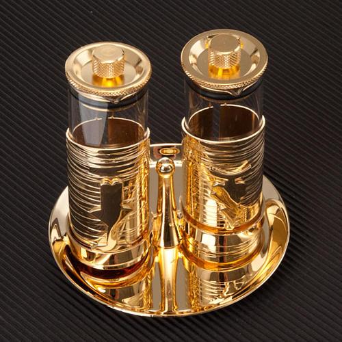 Gold plated watertight cruet set 5