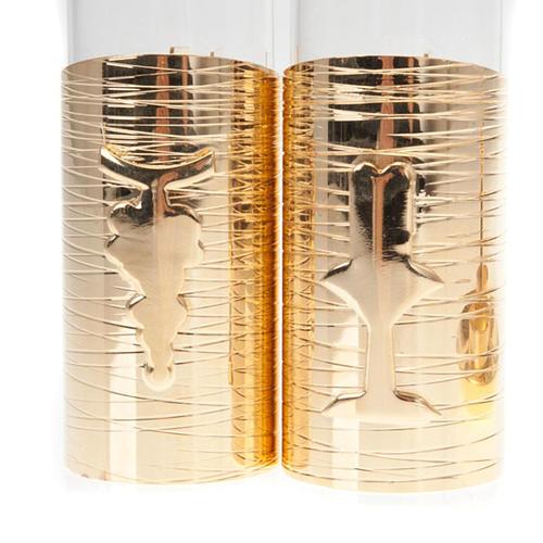 Gold plated watertight cruet set 3