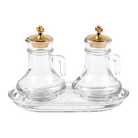 Glass cruet set for liturgy s1