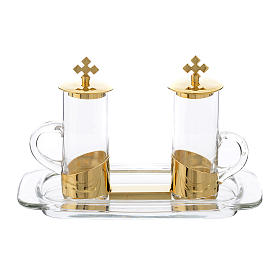 Glass cruets: Style Cruet Set for mass