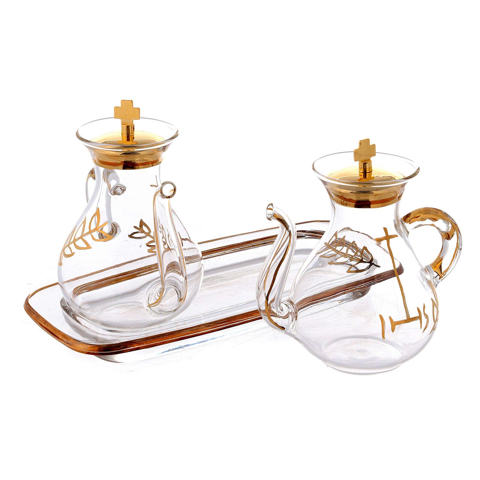 Vinajeras decoración dorada con pitón 4