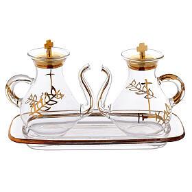 Vinajeras decoración dorada con pitón s1