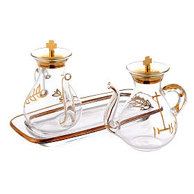 Gold decorated Cruet Set with spout s2