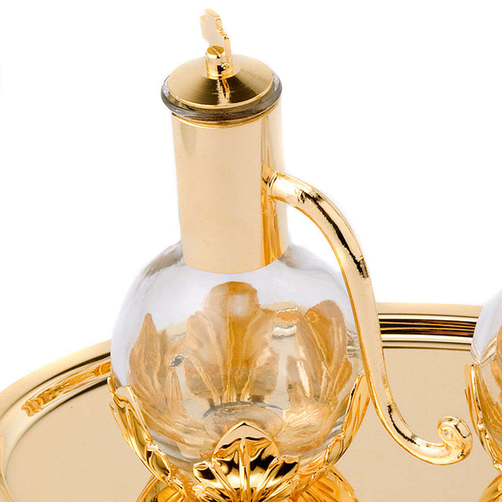 Golden leaves Cruet Set 4