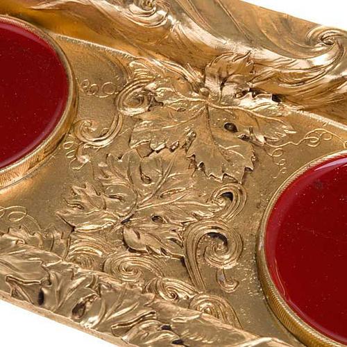 Vinajeras magnéticas peltre dorado 2