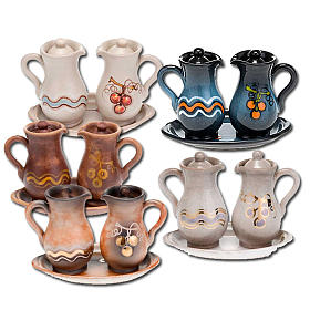 Ceramic amphora cruet set s1