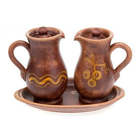 Ceramic amphora cruet set s4