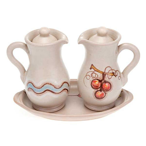 Ceramic amphora cruet set 6