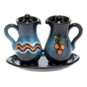 Ceramic amphora cruet set s5