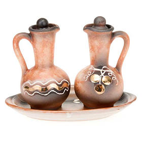 Ceramic round cruet set s2
