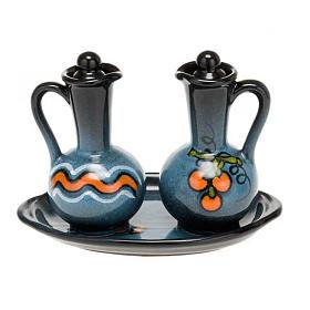 Ceramic round cruet set s3