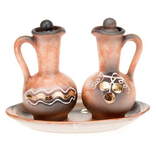 Ceramic round cruet set 2