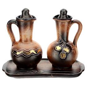 Ceramic round cruet set s1