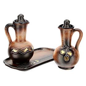 Ceramic round cruet set s5