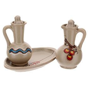 Ceramic round cruet set s8