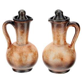 Ceramic round cruet set s13