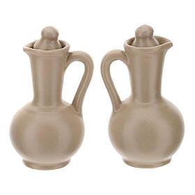 Ceramic round cruet set s16
