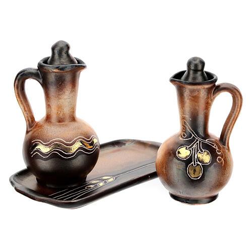 Ceramic round cruet set 5