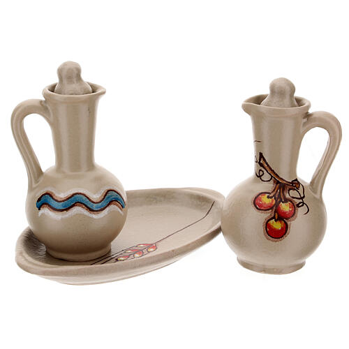 Ceramic round cruet set 8