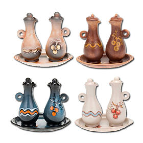 Decorated ceramic cruet set for mass s1