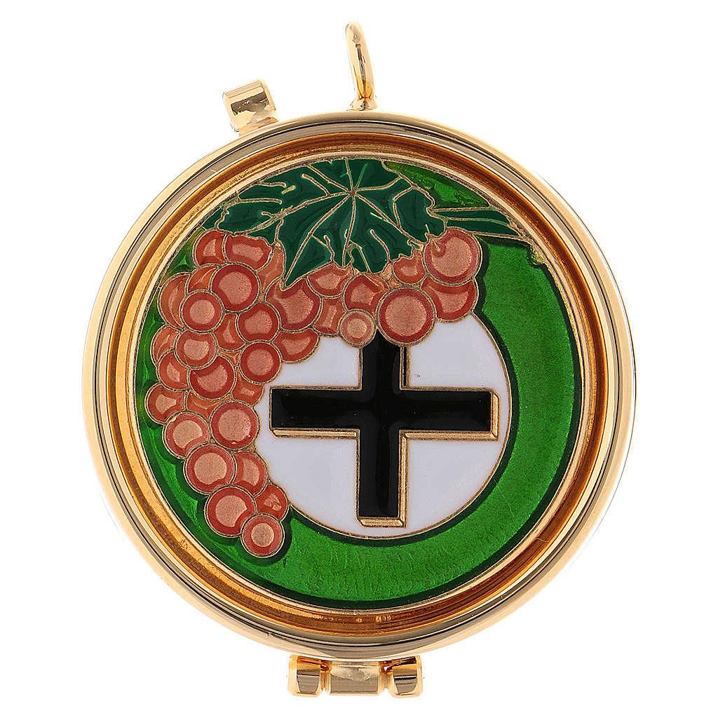 Teca eucaristica uva e croce 3