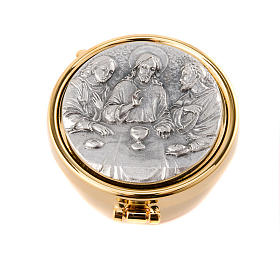 Pyx with pewter Emmaus plate s1