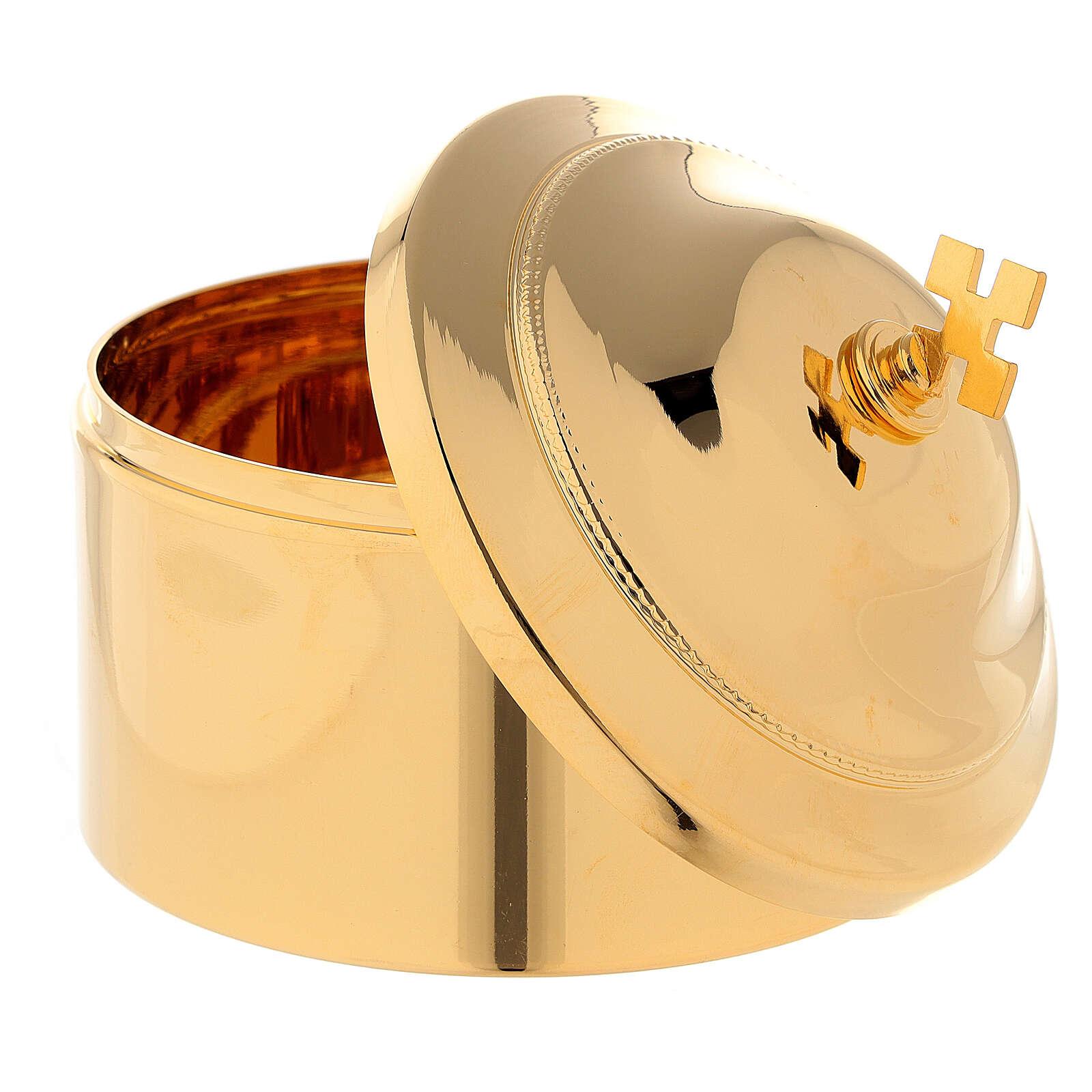 Boîte pour hosties laiton doré 3
