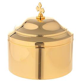 Boîte pour hosties laiton doré s1