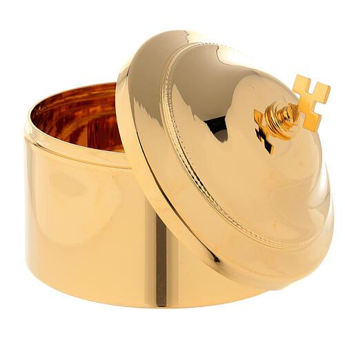 Boîte pour hosties laiton doré 2