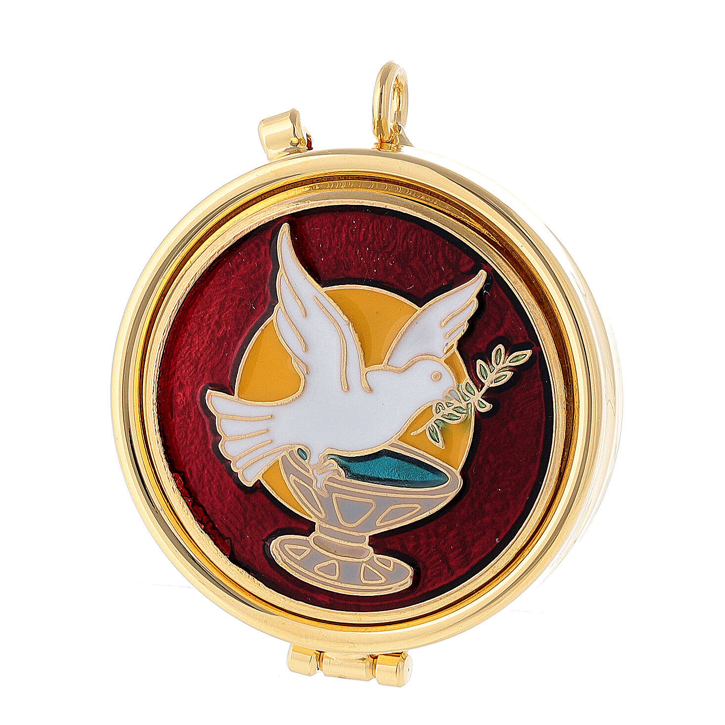 Custode pour eucharistie colombe olivier 3