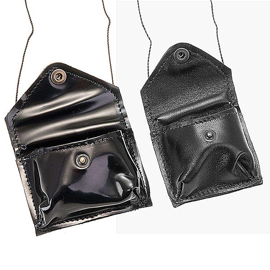 Black leather Pyx holder 3