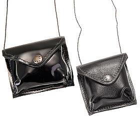 Pyxes and Burses: Black leather Pyx holder