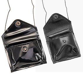 Black leather Pyx holder s2