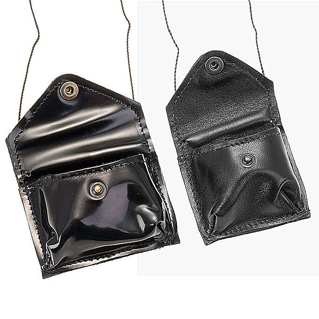 Black leather Pyx holder 3