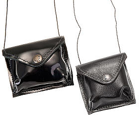 Black leather Pyx holder s1