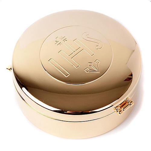 Caja hostia magna IHS dorado 1