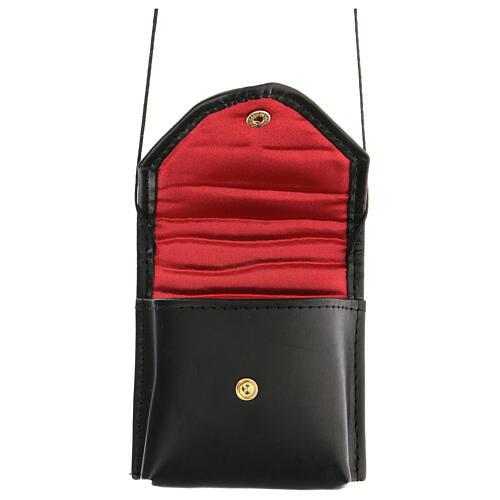 Black leather Pyx case 1