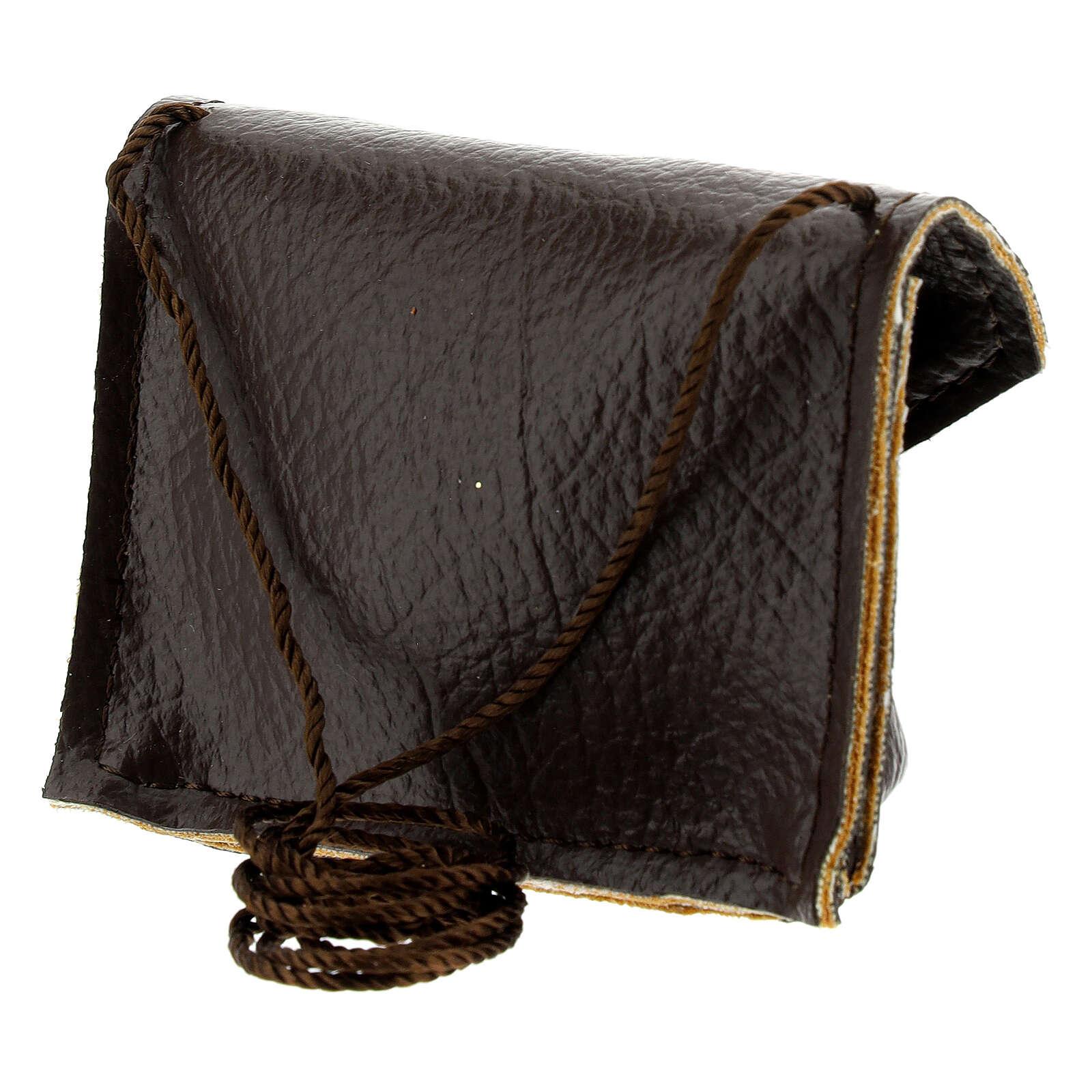 Brown leather Pyx holder 3