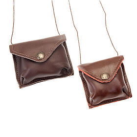 Brown leather Pyx holder s1