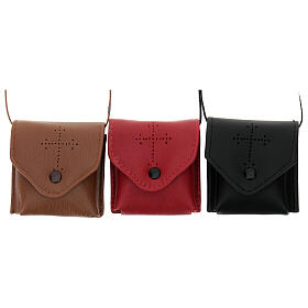 Brown leather Pyx holder s2