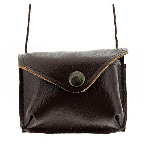 Brown leather Pyx holder 1
