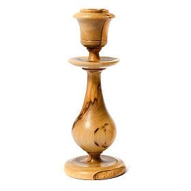 Świecznik drewno oliwne styl klasyczny s1