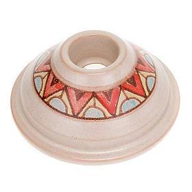 Portacandela tondo mini ceramica s1
