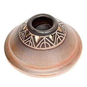 Portacandela tondo mini ceramica s2