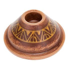 Portacandela tondo mini ceramica s3