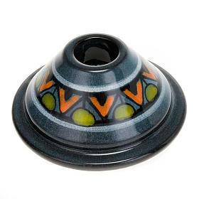 Portacandela tondo mini ceramica s4