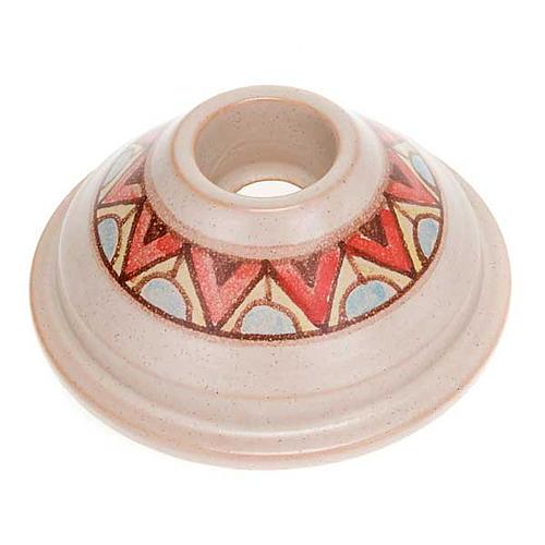 Portacandela tondo mini ceramica 1