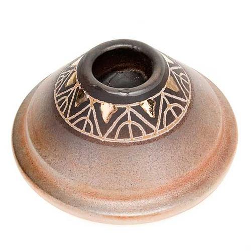 Portacandela tondo mini ceramica 2