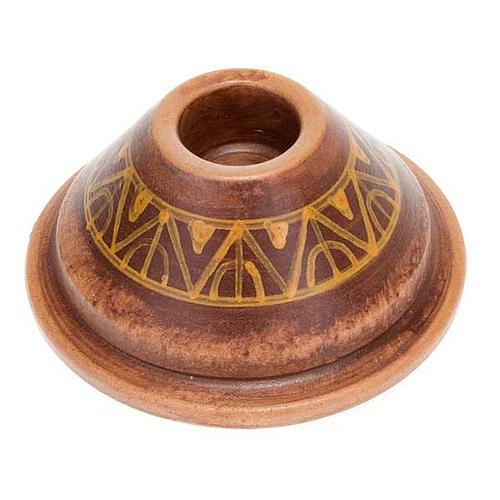 Portacandela tondo mini ceramica 3